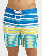 Volley Swim Trunks/Printed Stripes