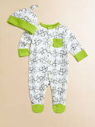 Infant's Monkey Chain Footie and Beanie Set