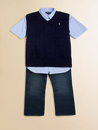 Boy's Cable-Knit Vest