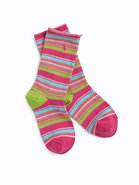 Girl&#39;s Striped Socks