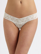 Sequined Low-Rise Ruffle Thong