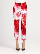 Printed Sateen Emma Pants