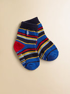 Infant's Multicolor Striped Crew Socks