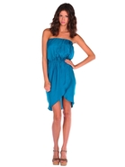 Pleated Front Tube Dress