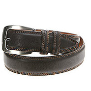 Double Contrast Stitched - Men's - Belt - Brown
