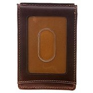 Twofold Money Clip - Men's - Wallets - Brown