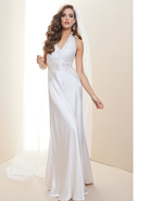 - Embellished Halter Charm Bridal Gown - Rami Kash