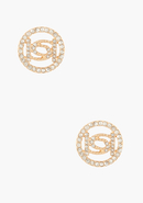 - Logo Crystal Stud Earring - Gold - 1Sz