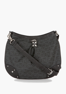 - Logo Monogram Crossbody - Black/Black - 1Sz