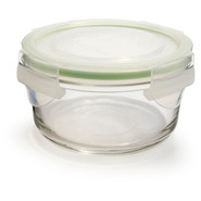 Go Green GlassLock Food Storage, Round, 24 oz.