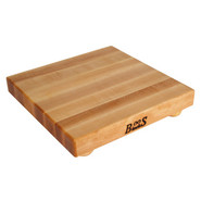 . Maple Edge-Grain Cutting Board with Feet, 12  x