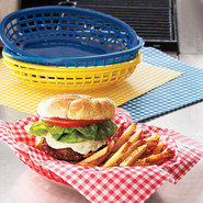 Burger Basket Liners, Blue Gingham
