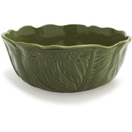 Italian Cabbage Serving Bowl, Green