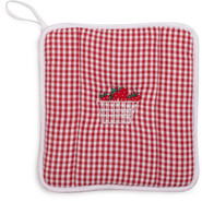 Gingham Strawberry Vintage-Inspired Potholder
