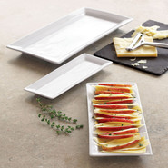 Blanc Rectangular Serving Platters, 14 x7