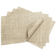 Latte Rectangular Basketweave Placemat