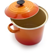 Flame Enameled Steel Stockpot