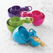 Sets of Four Measuring Cups, Teal