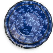 Blue French Floral Dinner Plate, 11