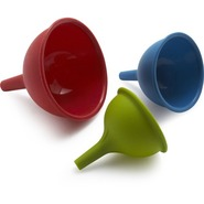 Silicone Funnels, Set of 3