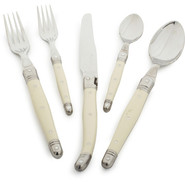 Dubost Ivory Laguiloe Flatware, 5-Piece Set