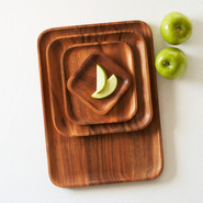 Acacia Wood Salad Plate, 5  sq.