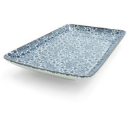 Blue Floral Sushi Plate, 8  x 5??