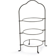 Antiqued-Bronze Tiered Plate Stand, 8 1/2 , 8.5
