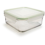 Go Green GlassLock Food Storage, Rectangle, 14 oz.