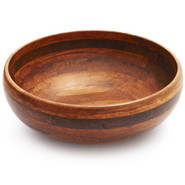 Dark Bamboo Salad Bowl