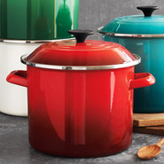 Cherry Enameled Steel Stockpot