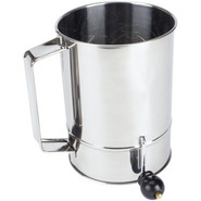 Stainless Steel Crank-Handle Sifter, 5 cup