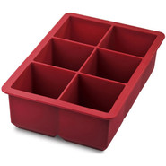 King Cube Ice Tray, Red