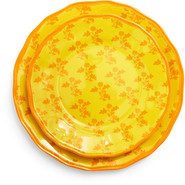 Yellow French Floral Salad Plate, 9