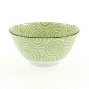 Green Spiral Soup Bowl, 12 oz.
