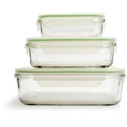 Go Green GlassLock Food Storage - Set of 3 Rectang