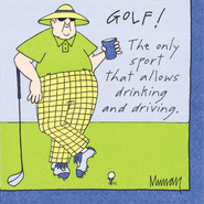 Golf! Paper Cocktail Napkins
