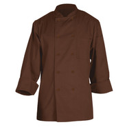 Basic Chocolate Chef Coats, Large