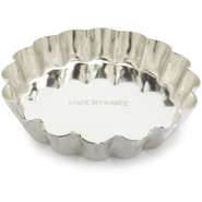 Tinned-Steel Fixed-Bottom Fluted Tartlette Mold, 4
