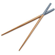 Washi Nami Blue Waves Bamboo Chopsticks, 1 Pair