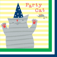 Fat Cat Paper Luncheon Napkins