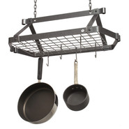 Hammered Steel Rectangular Pot Rack