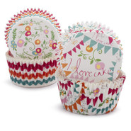 I Love Cake Bake Cups, Set of 48