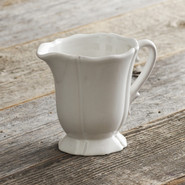 Baroque White Creamer, 4 1/2