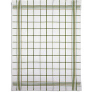 Waffle-Check Kitchen Towel, Green