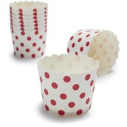 Paper Eskimo Red and White Dot Baking Cups, Set of