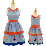 Child's Fat Cat Vintage-Inspired Apron