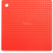 Bright Red Silicone Grid Potholder