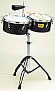 Timbales Black Powder Coated
