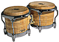 LP Generation II Wood Bongos with Traditional Rim